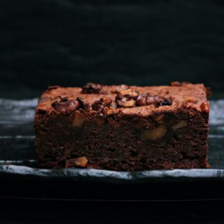 Vegan Cranberry Brownie